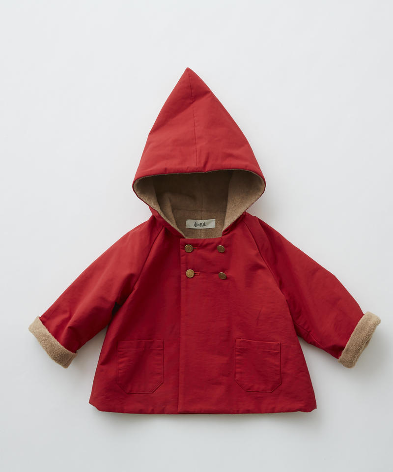 【 eLfinFolk 2019AW 】elf-192F21 elf coat / red / 90 - 100cm