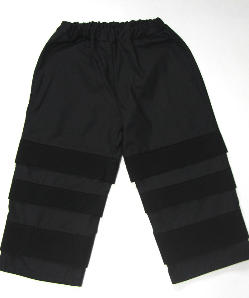 【 UNIONINI 2018AW 】 PT-059 layer pants / black
