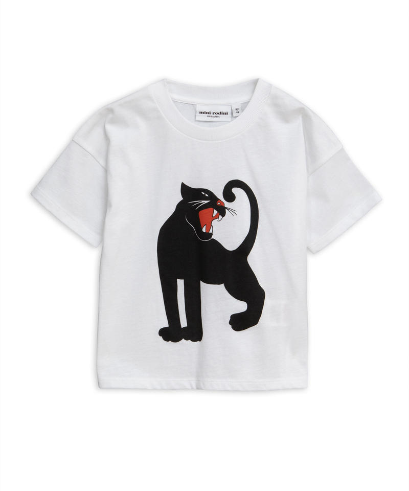 【 mini rodini 2019SS 】20131  Panther sp tee / White
