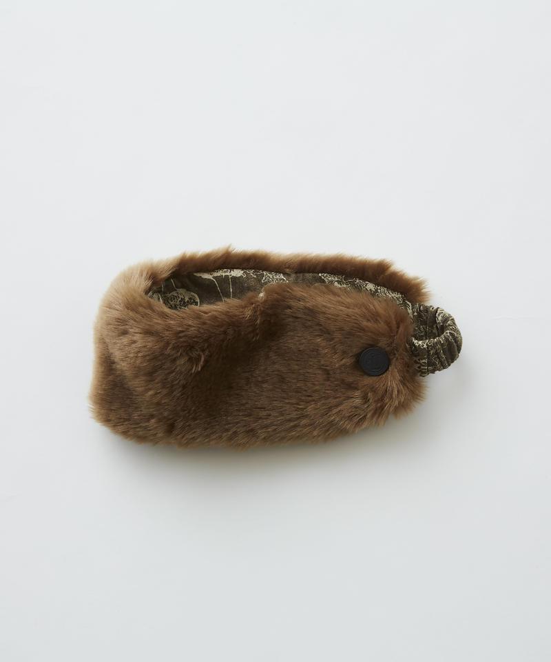 【 eLfinFolk 2019AW 】elf-192A39 fur turban by CA4LA×eLfinFolk / brown / S(50-55)
