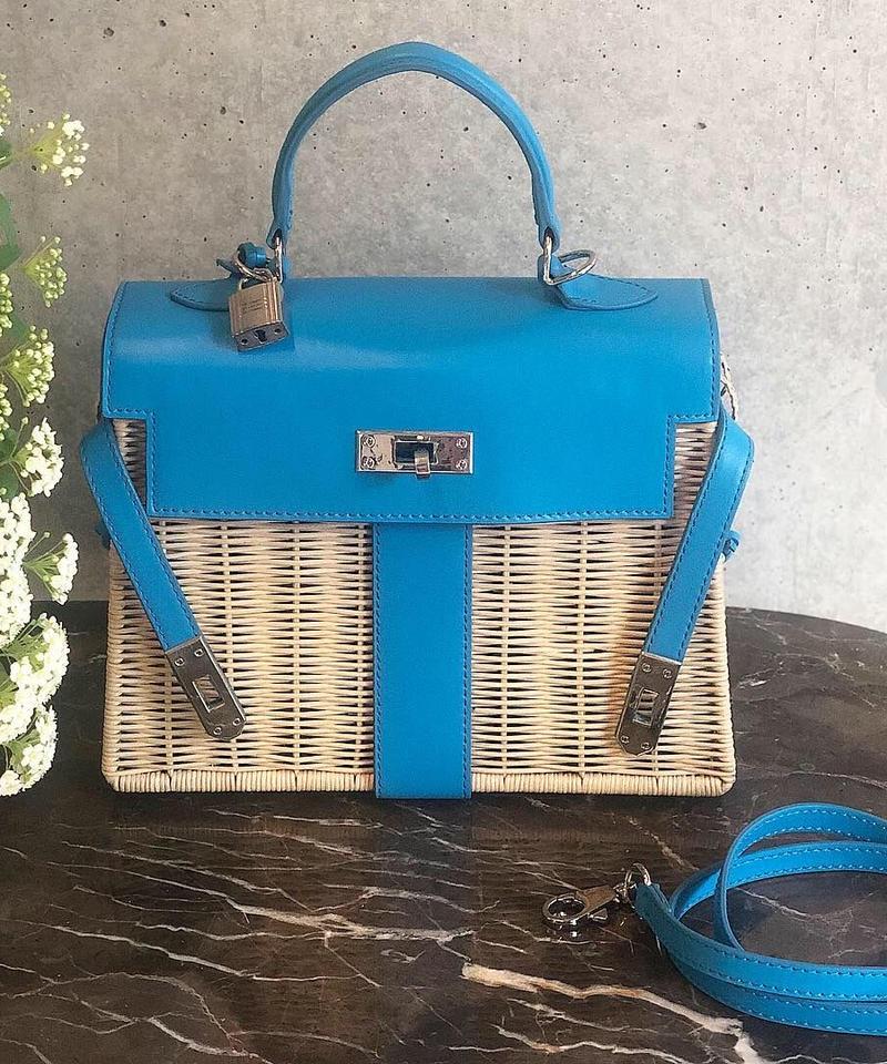 (original)ピクニックケリーラタンバッグ  (mini)  新色ブルー
