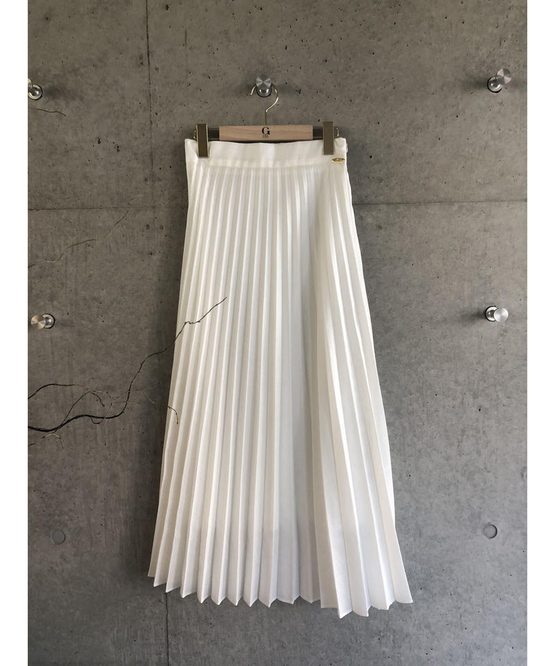(original)マキシ丈プリーツスカート  (white)