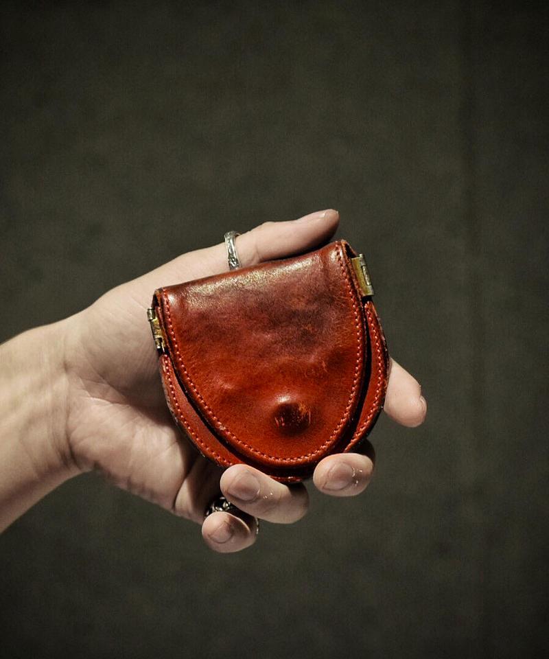 Italian shrink leather Coin case