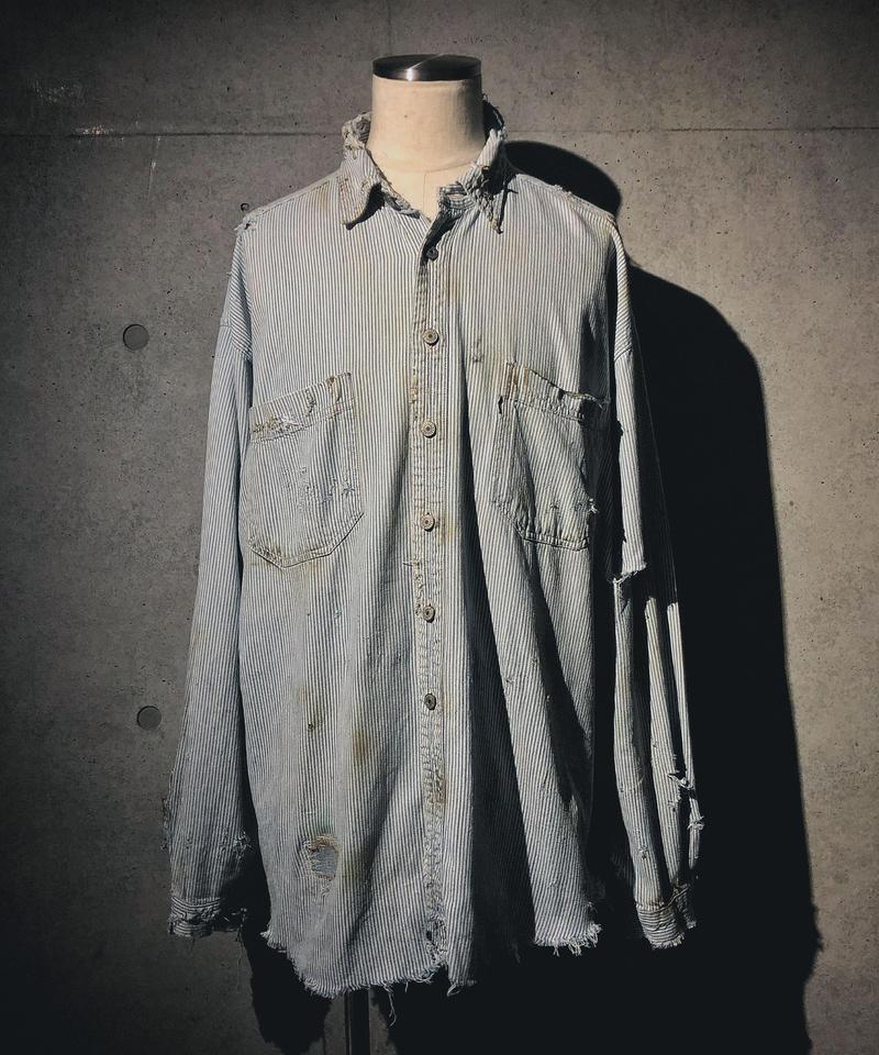 Vintage damage hickory shirt