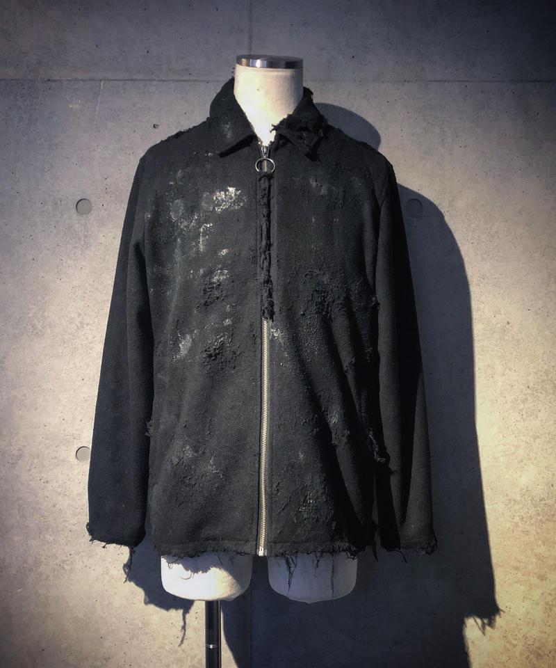 Paint & damege wool single jacket
