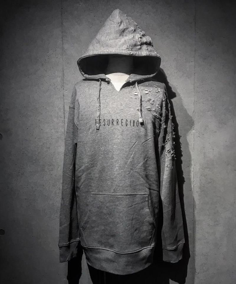 The Revival damage Hoodie GRAY