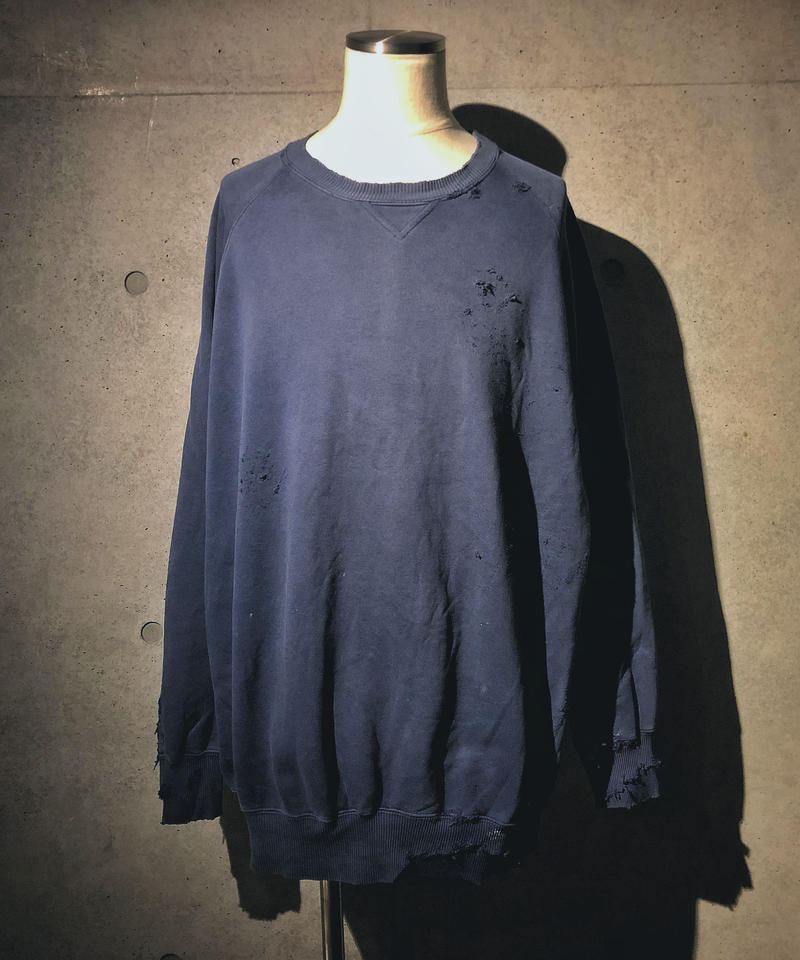 Vintage damage blue sweat shirt