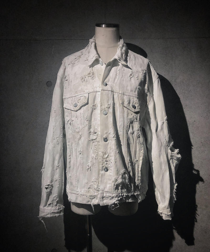 Vintage damage denim jacket