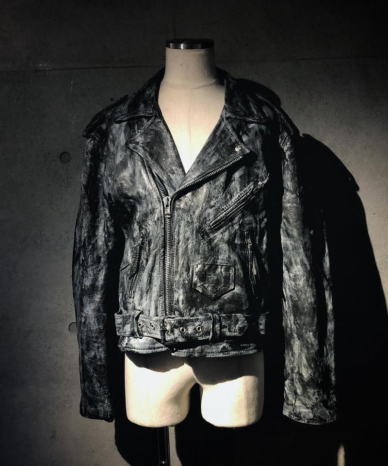 Vintage leather rider's jacket