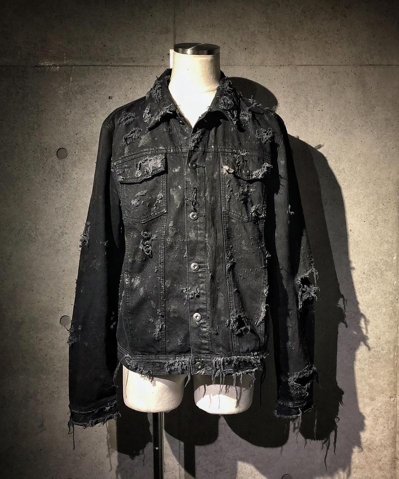 Vintage hard damage denim jacket