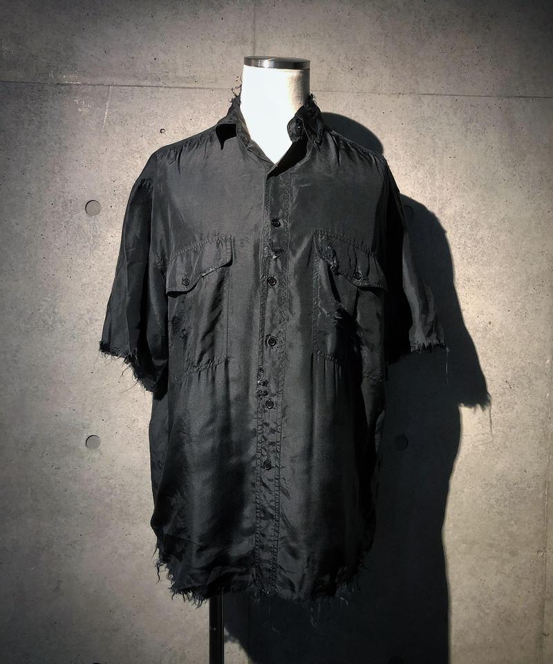Damage half shirt (silk100%)