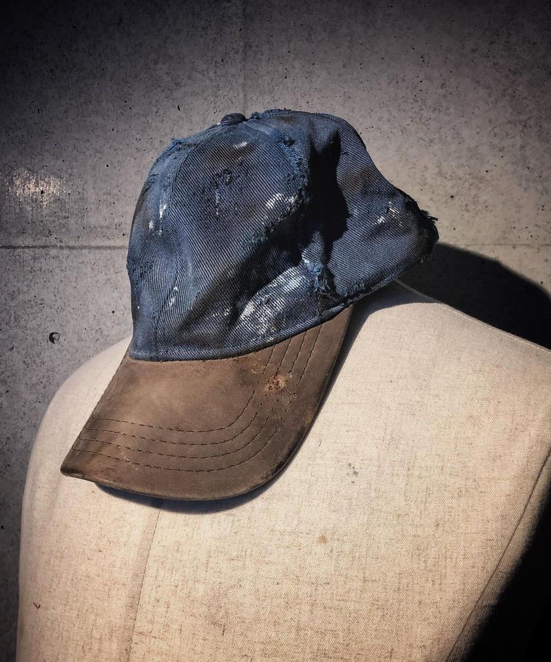 Leather × Denim CAP