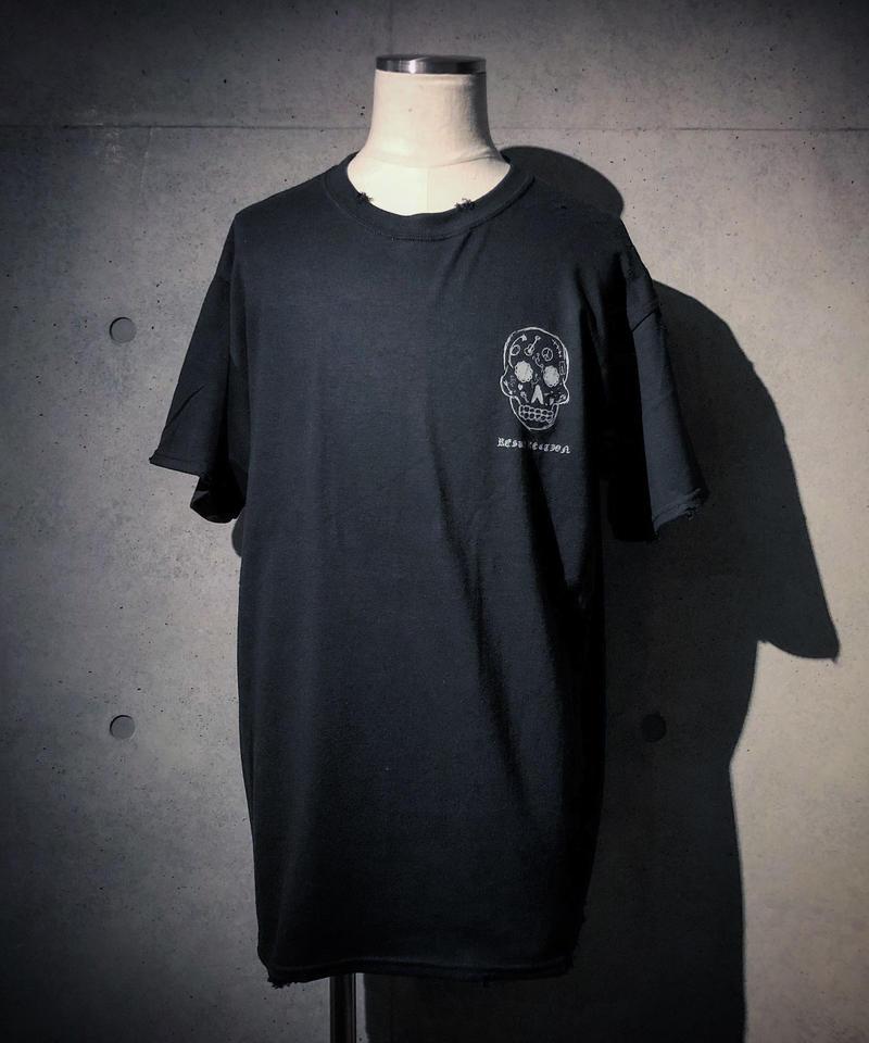 RAKUGAKI SKULL T-shirt BLACK