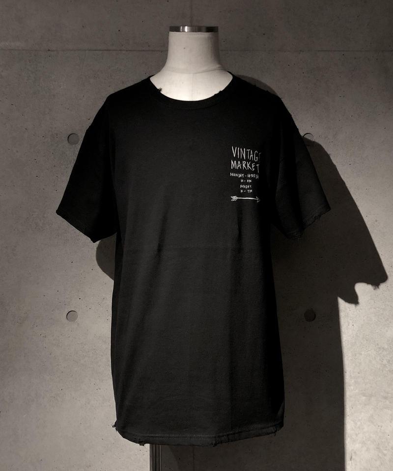 VINTAGE MARKET T-shirt BLACK