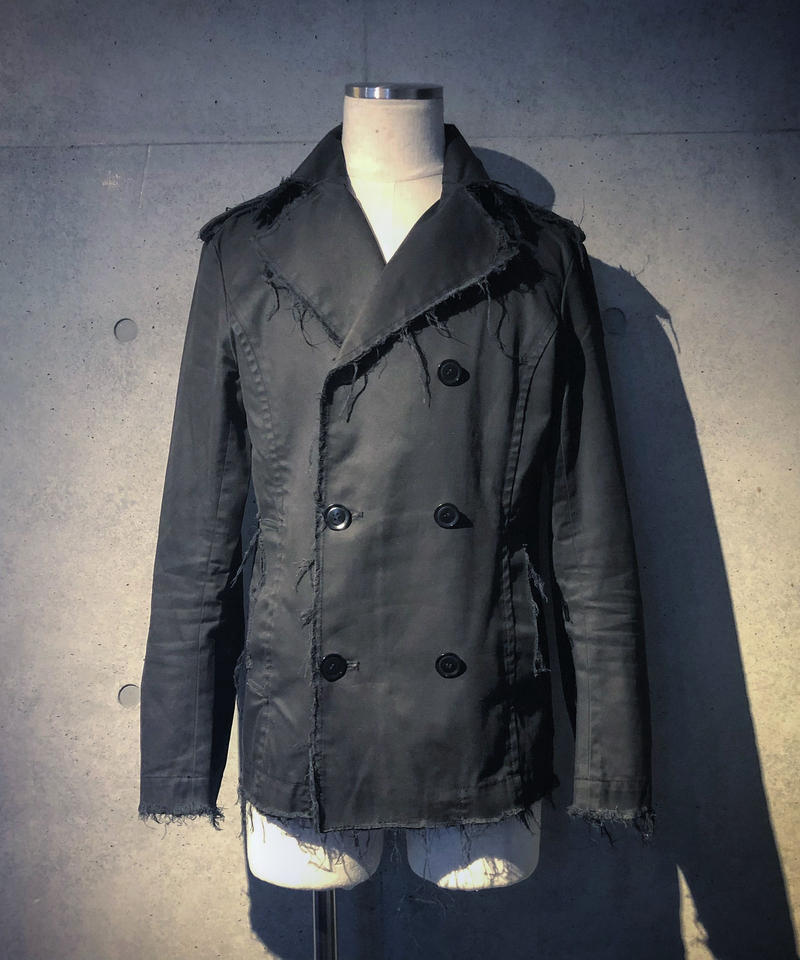 Damage black P-coat