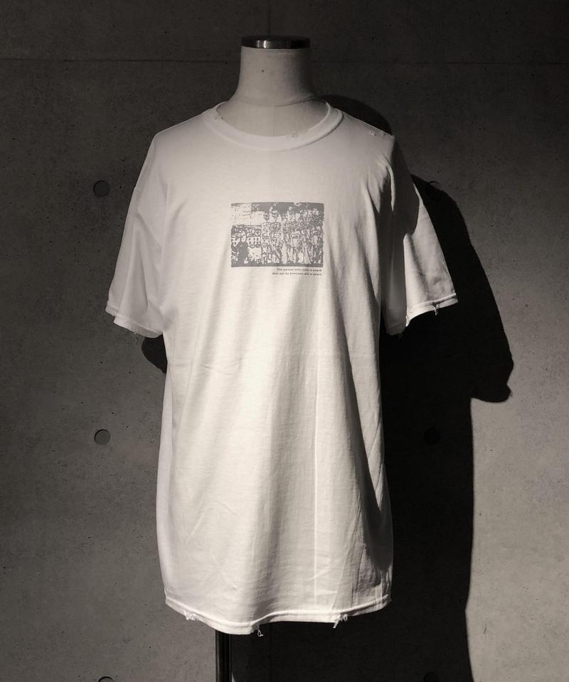 Street skull T-shirt WHITE