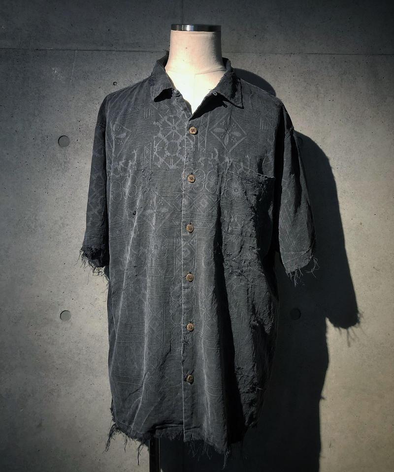 Pattern vintage damage shirt