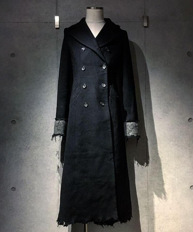 Damage Black Long Coat