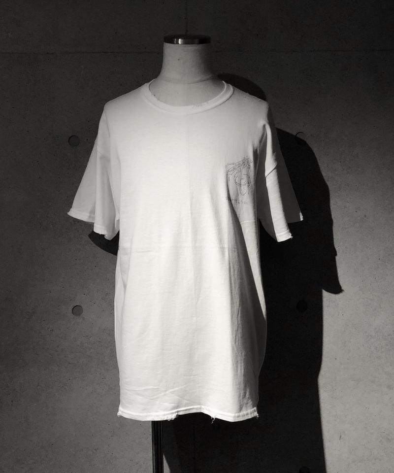 Skull cafe T-shirt WHITE