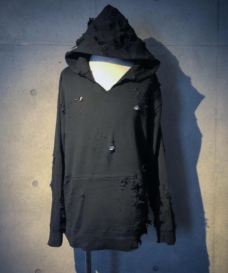 Hard damage  black hoodie