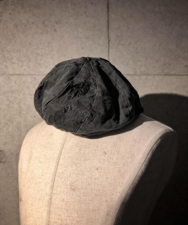 Bio wash vintage old black beret