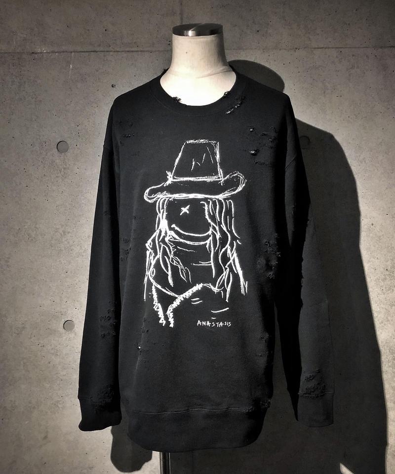 ANASTASIS Sweat Shirt BLACK