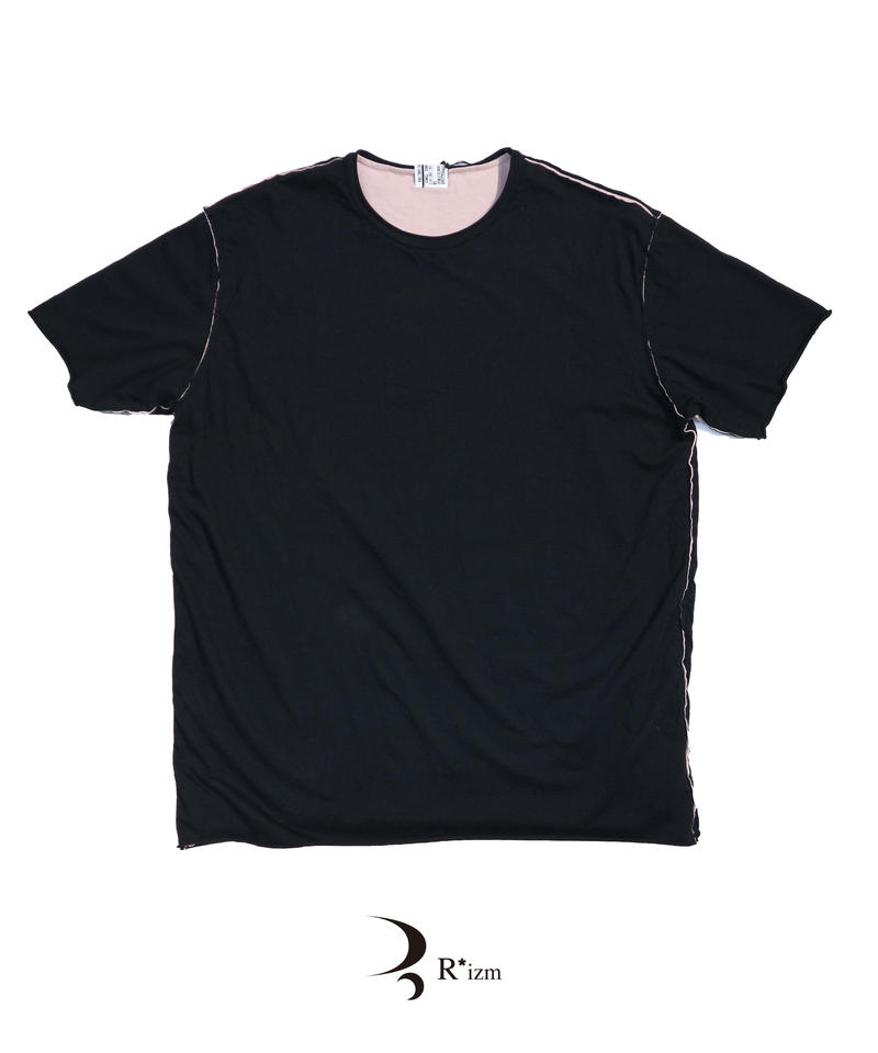 "NEXUSVII.  "" W-FACE T-SHIRT  ""  BLK *PINK"