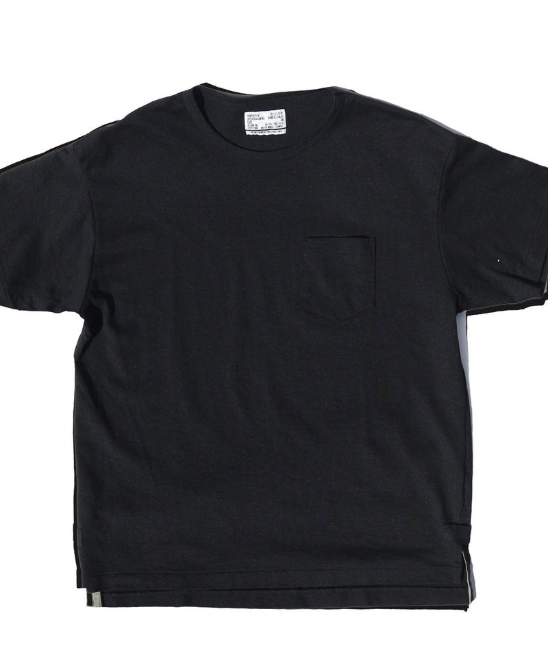 "NEXUSVII.  ""COOLMAX POCKET TEE "" BLACK"