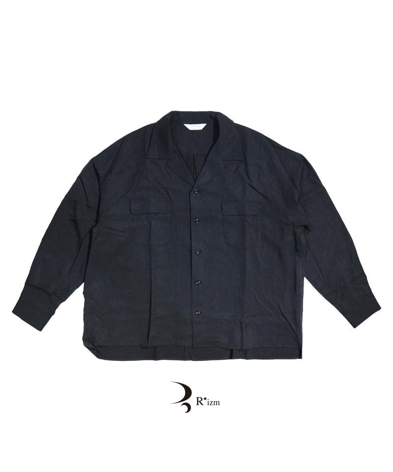 """roundabout  """" L/S Open Collar Wide Shirt  """""""