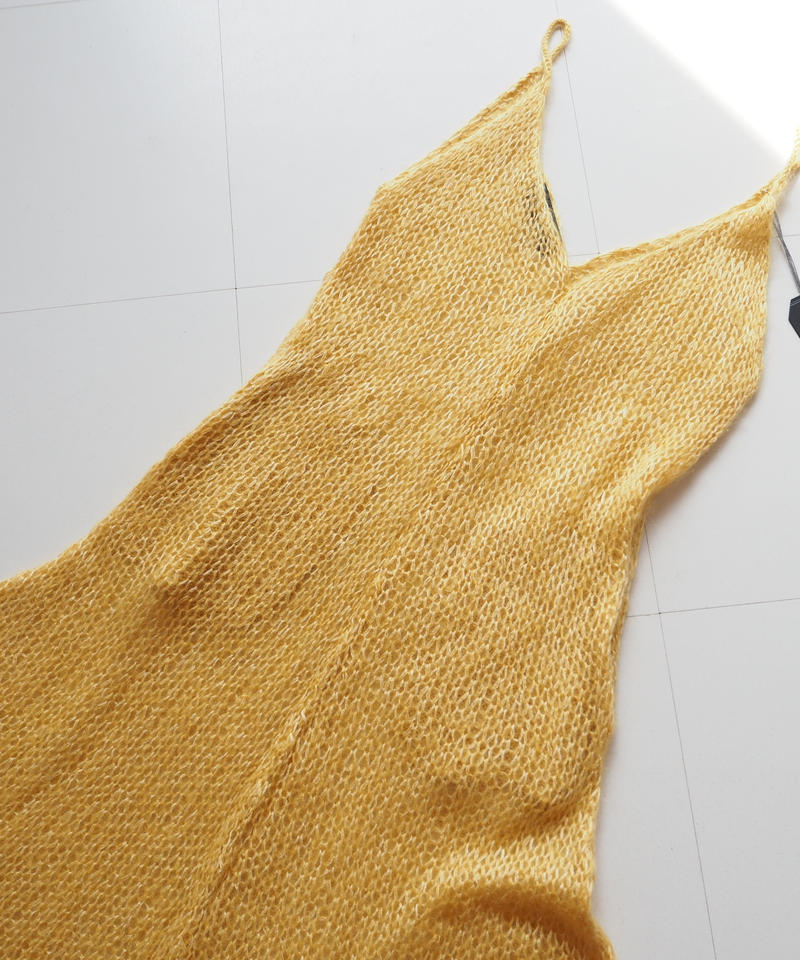 "UNUSED ""US1629 knit onepiece.  "" Yellow women"