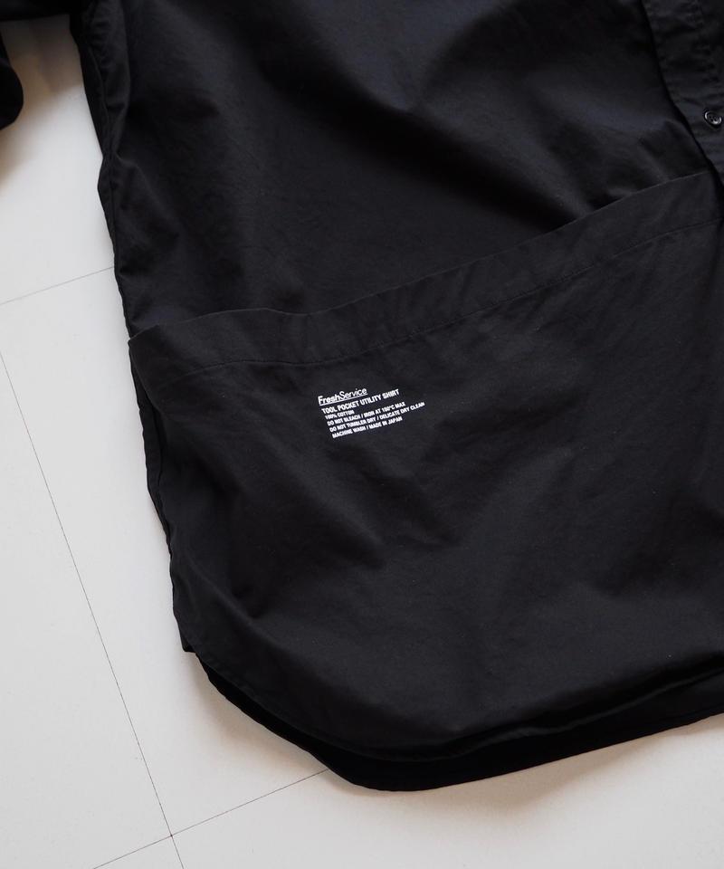 "FreshService ""Tool Pocket Utility Shirt""  Black unisex"