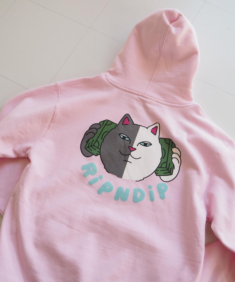 "RIPNDIP ""MONEY TALKS Hoodie"" light pink"