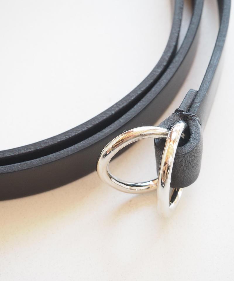 "Aeta ""BL02-S/OVAL RING BELT S "" Black"