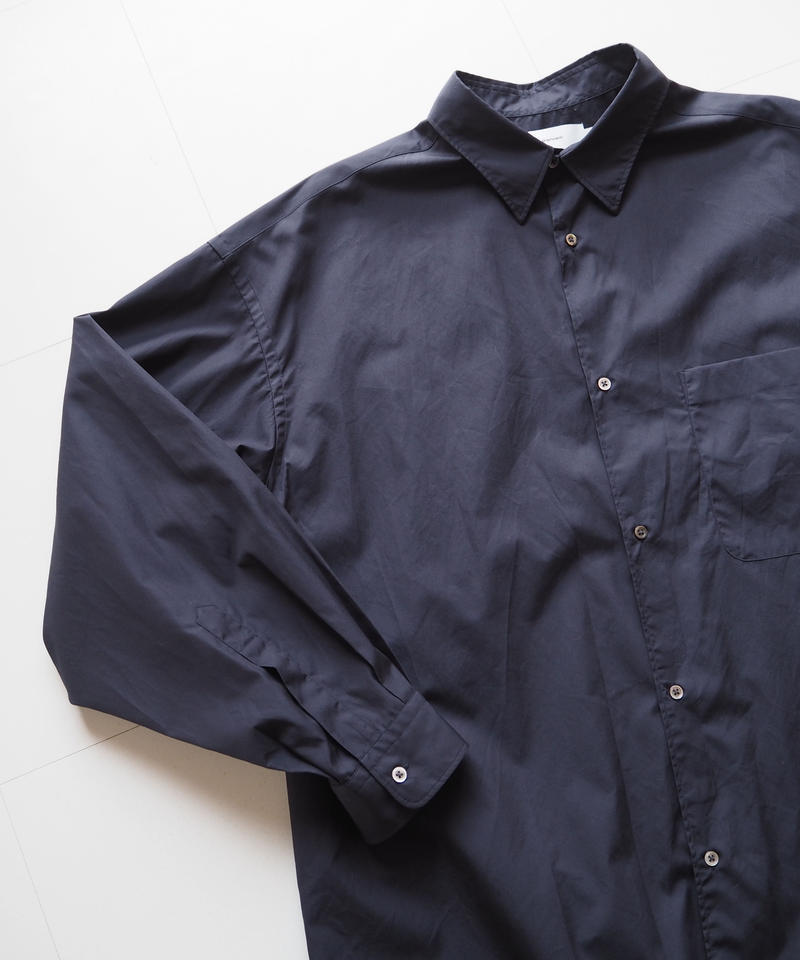 "Graphpaper ""Broad Oversized L/S Shirt""  Navy unisex"