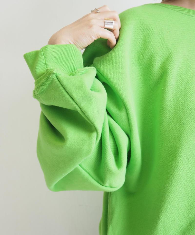"JieDa ""-FRUIT OF THE LOOM- Switching Sweat"" Green unisex"