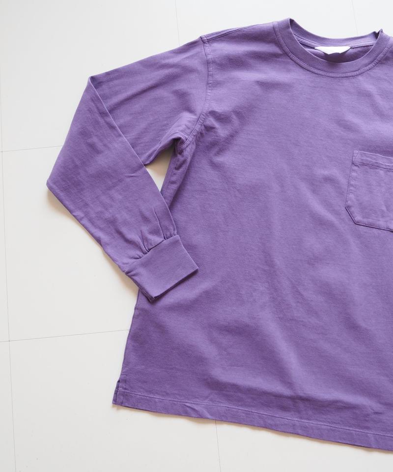 """UNUSED """"US1596 long-sleev e pocket t-shirt. """" purple women"""