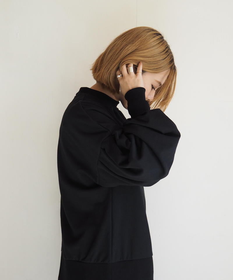 "Graphpaper ""Sweat Balloon Sleeve Pull Over"" Black women"