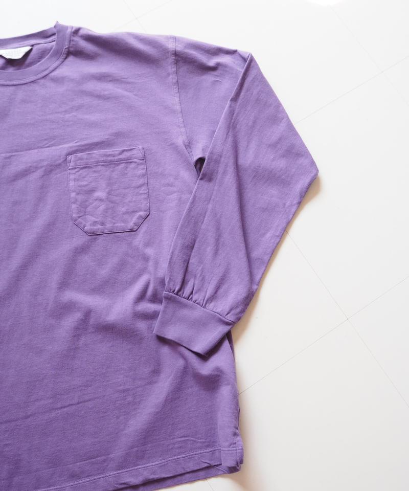 """UNUSED """"US1595 long-sleev e pocket t-shirt. """" purple unisex"""