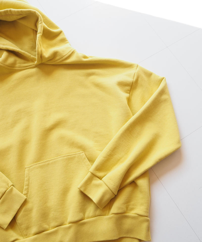 "UNUSED ""US1527 sweat hoodie. "" Yellow unisex"