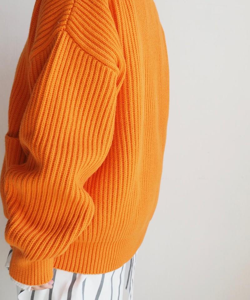 """UNUSED """"US1606 3G pullover knit. """" Orange unisex"""