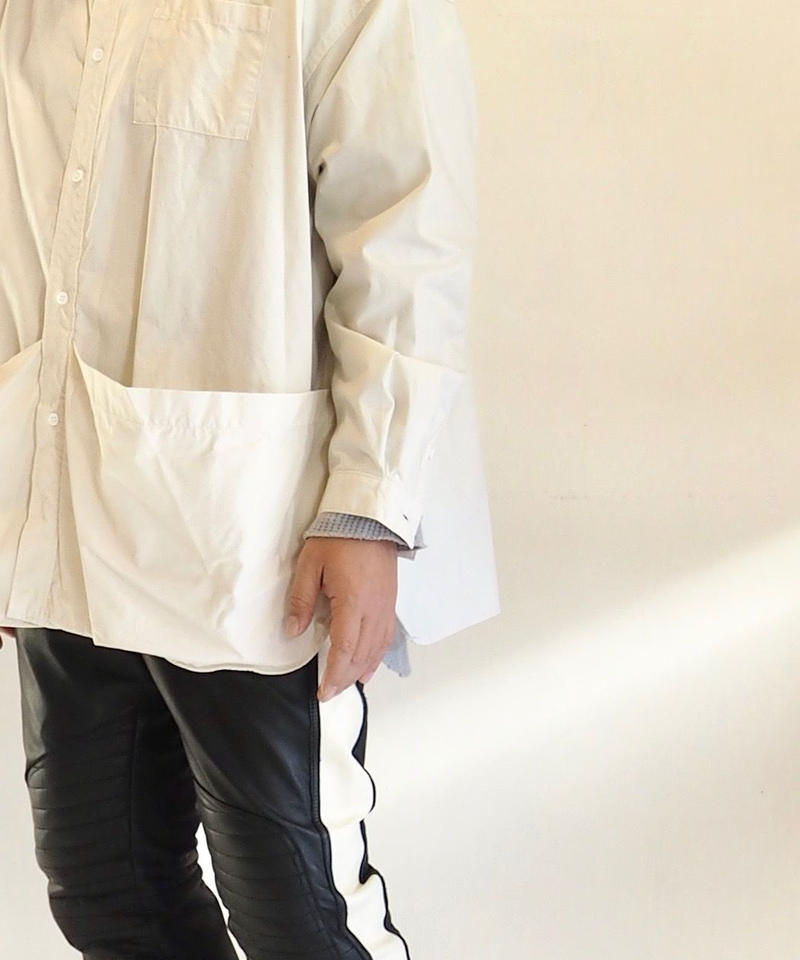 """FreshService """"Tool Pocket Utility Shirt""""  Ivory unisex"""