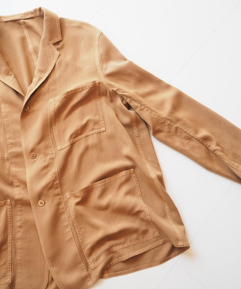 "Graphpaper ""Soft Cupro Jacket"" Brown unisex"