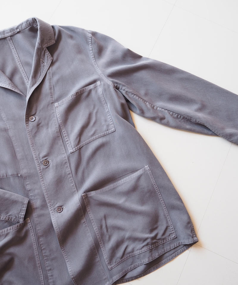 "Graphpaper ""Soft Cupro Jacket"" Gray unisex"