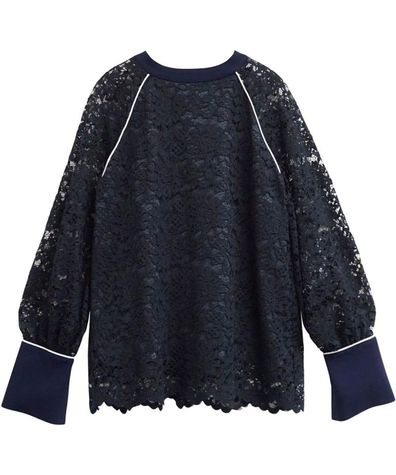 [19AW] PIPING DESIGN LACE TOPS