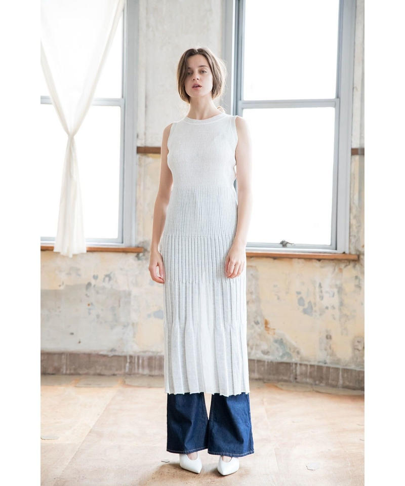 [19SS] LINEN RIB KNIT ONE-PIECE