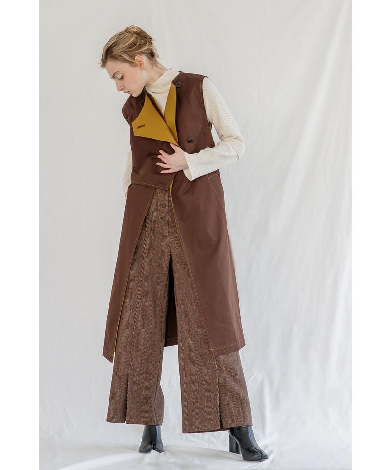 [19AW PRE ORDER] BI-COLOR TRENCH GILET