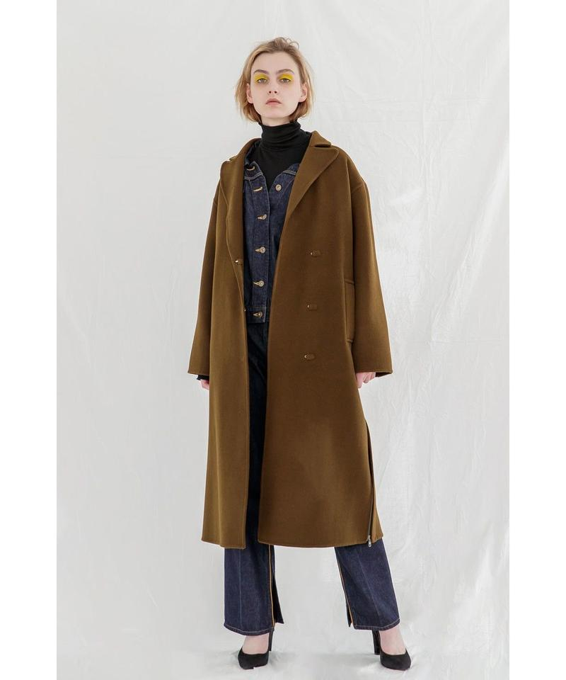 [19AW PRE ORDER] SIDE ZIP WOOL LONG COAT