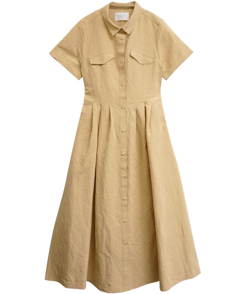 COTTON LINEN SHIRT ONE-PIECE