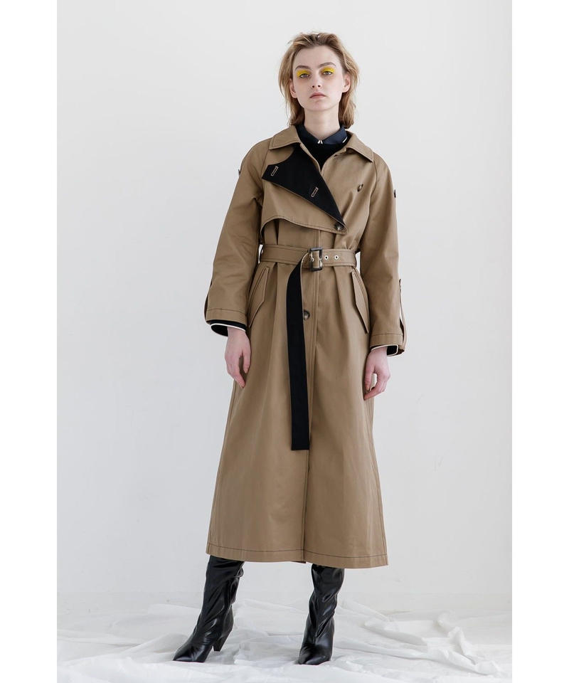 [19AW PRE ORDER] BI-COLOR TRENCH COAT
