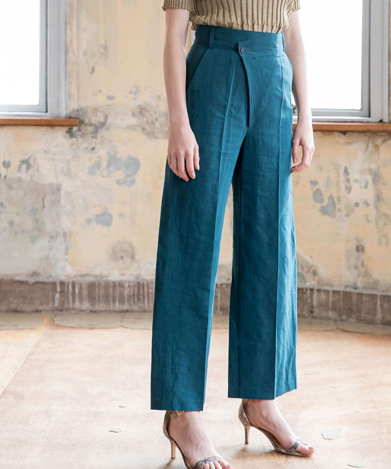 COTTON LINEN DESIGN PANTS